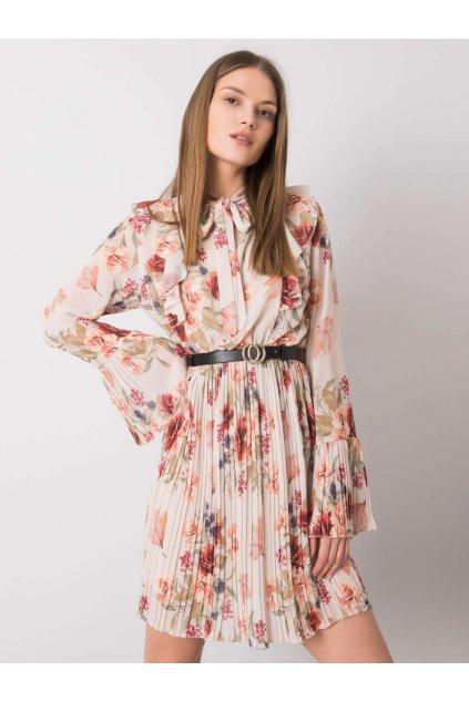 pol pl Bezowa sukienka w kwiaty Hayley 362591 1