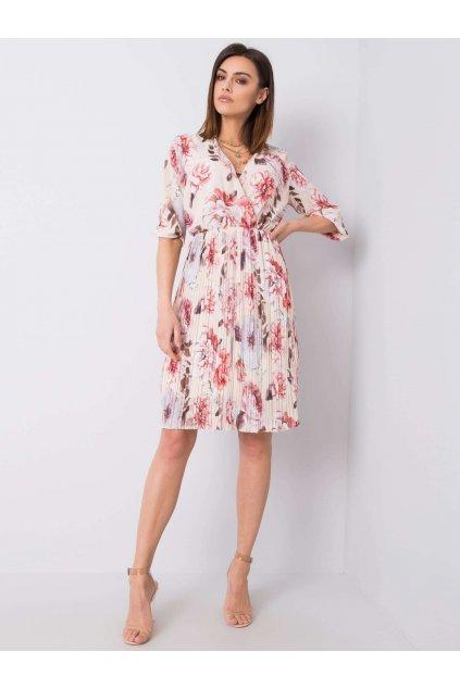 pol pl Bezowa sukienka z printami Valentine 363685 1