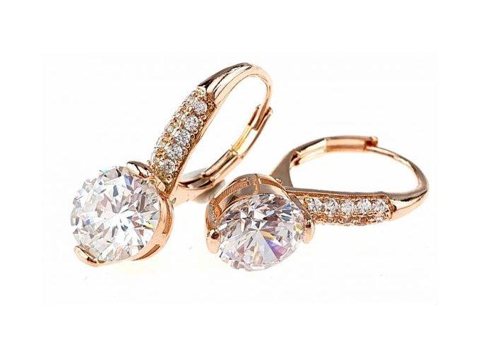 Zlaté náušnice perla star