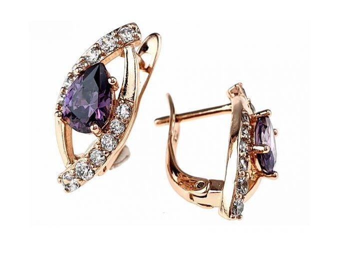Luxusné náušnice crystal 26014