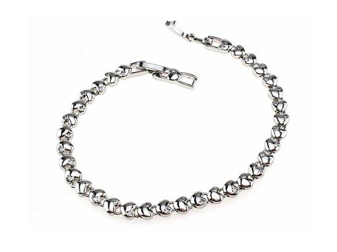 Masívny strieborný náhrdelník bizant