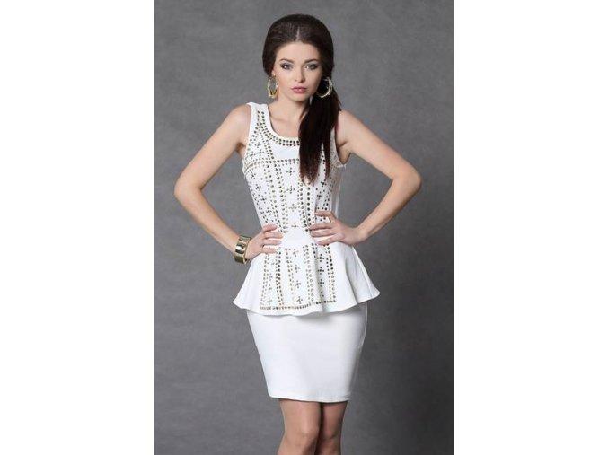 Elegantné peplum šaty s vybíjaním