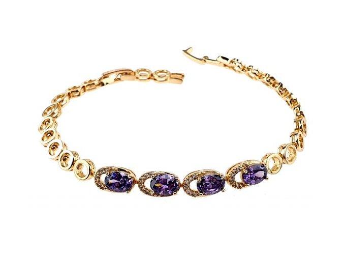 Masívny zlatý náhrdelník points