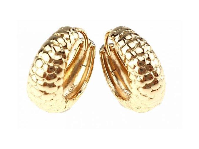 Zlaté náušnice hviezdna perla