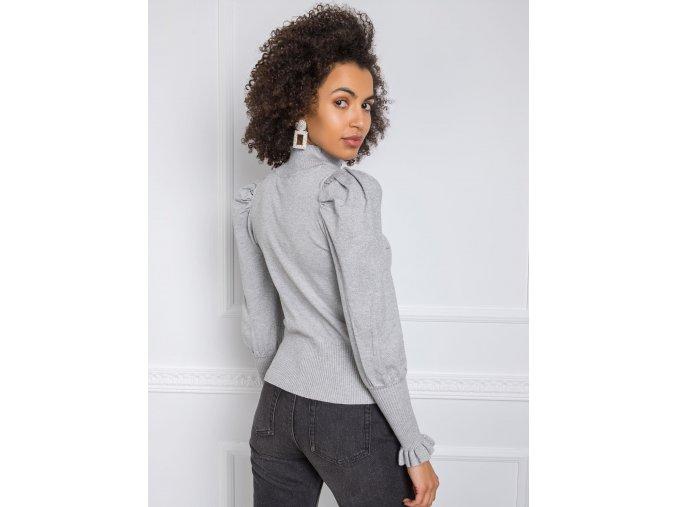 Dámska zimná bunda s kapucňou 2824 šedá
