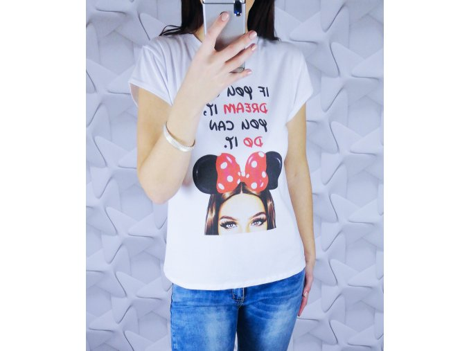 Dámske tričko s potlačou mouse dream