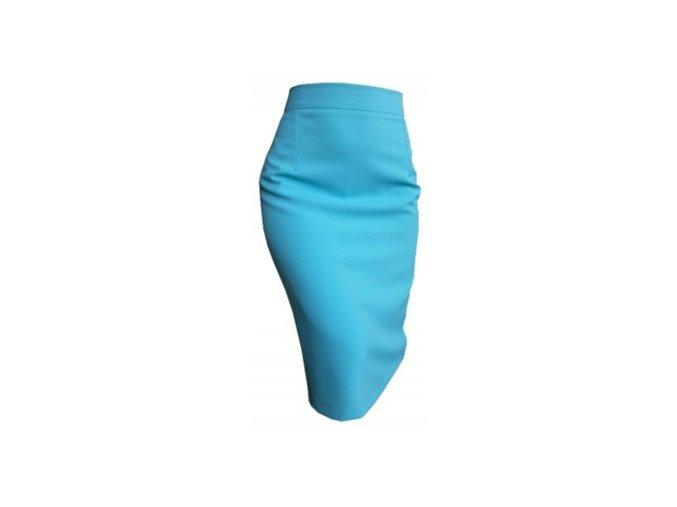 puzdrová sukňa tyrkysová1