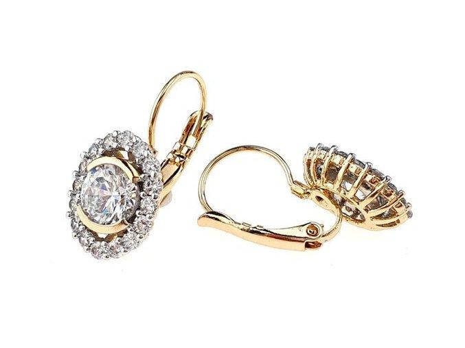 Zlaté náušnice romance elegant