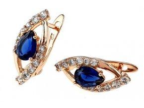 Luxusné zlaté náušnice crystal 25978