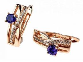 Luxusné zlaté náušnice crystal 26009