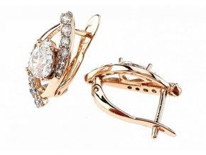 Luxusné náušnice crystal 17188 mint