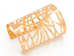 Zlatý náramok geometrik