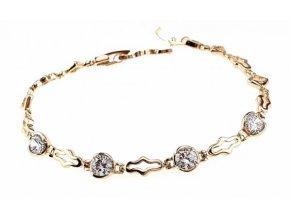 Masívny zlatý náhrdelník gold decorative