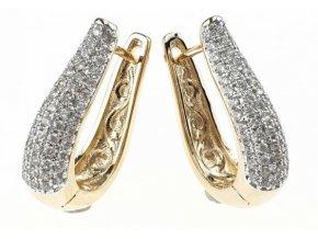 Masívny náhrdelník gold zirkon