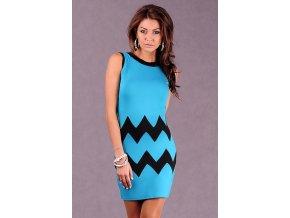 Elegantné šaty s cikcakovým vzorom