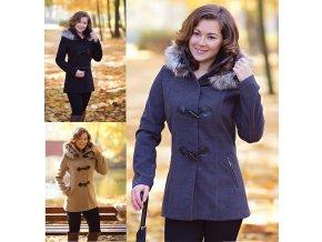 163f6343552f7 Dámsky zimný kabát s kapucňou-Tentation.sk