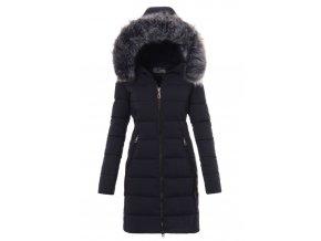Dámska dlhá zimná bunda s kapucňou 2740 modrá
