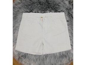 Dámske riflové šortky biele