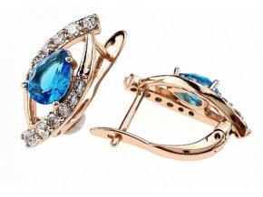 Luxusné strieborné náušnice crystal 25979