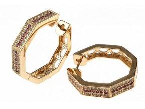 Zlaté perlové náušnice pearl glam