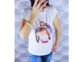 Dámske tričko s potlačou vogue rock