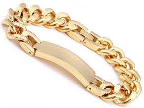 Pánsky zlatý náramok z chirurgickej ocele 33536