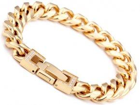 Pánsky zlatý náramok z chirurgickej ocele 33526