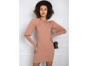 Dámske košeľové šaty Milena 7730 karamel