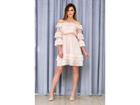 Dámske letné šaty Marika 7571 béžové