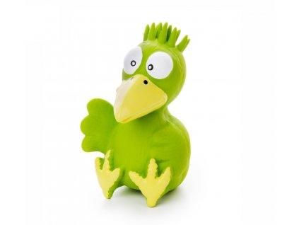 46831 1 jk animals piskaci latexova hracka ptace zelene 13 cm 1