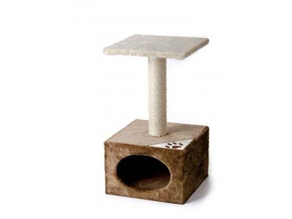 59720 1 jk animals skrabadlo pro kocky diabolo 37 37 66 cm bezova hneda 1
