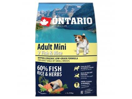ONTARIO Dog Adult Mini Fish & Rice (2,25kg)