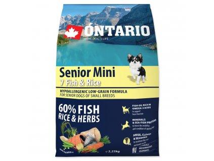 ONTARIO Senior Mini Fish & Rice (2,25kg)