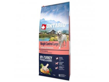 ONTARIO Dog Large Weight Control Turkey & Potatoes & Herbs (12kg)