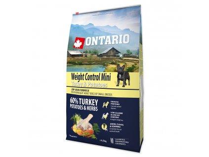 ONTARIO Dog Mini Weight Control Turkey & Potatoes (6,5kg)