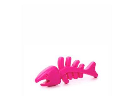 45967 2 jk animals tpr rybi kost 12 cm ruzova 0