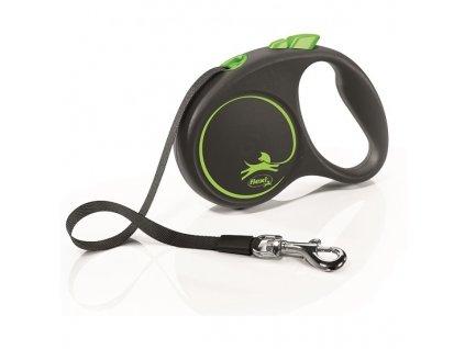 Vodítko Flexi Black design M pásek 5m/25kg zelená