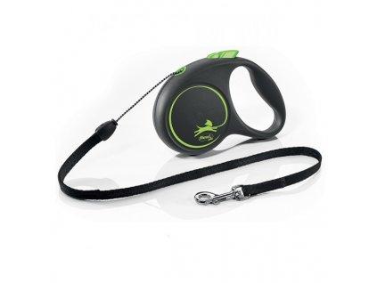 Vodítko Flexi Black design M lanko 5m/20kg zelená