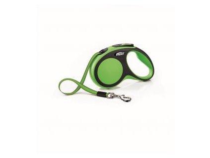 Vodítko Flexi Neon S pásek 5m/15kg černo/zelená