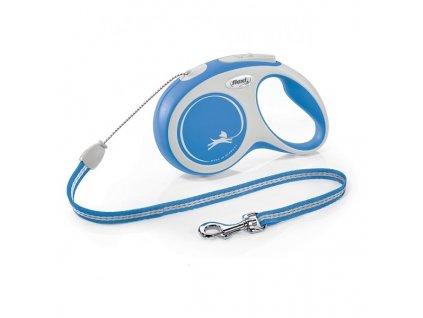 Vodítko Flexi Comfort S lanko 8m/12kg modrá