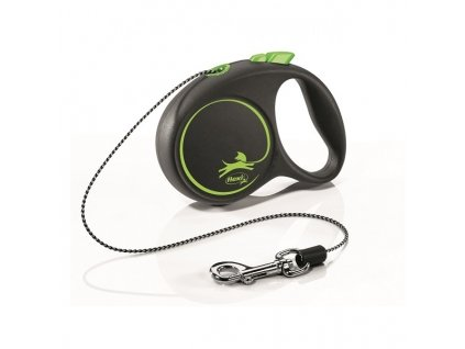 Vodítko Flexi Black design XS lanko 3m/8kg zelená