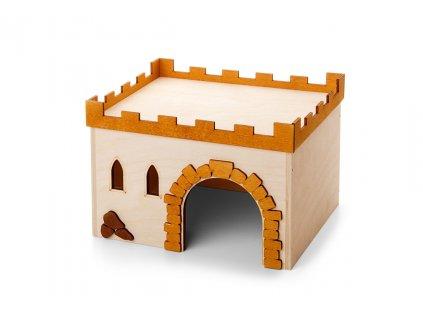 33016 jk animals dreveny domek hrad c 3 morce 24 18 16 cm 1