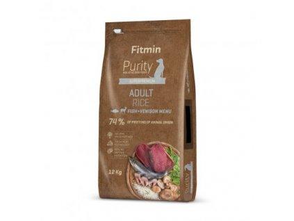 Fitmin Purity Adult Fish & Venison Rice kompletní krmivo pro psy 2 kg