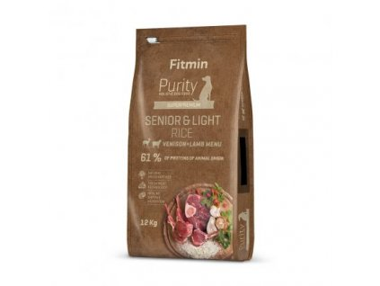 Fitmin Purity Senior & Light Venison & Lamb Rice kompletní krmivo pro psy 12 kg