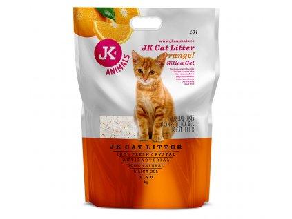 59143 4 jk animals litter silicagel orange 6 8 kg 16 l 1