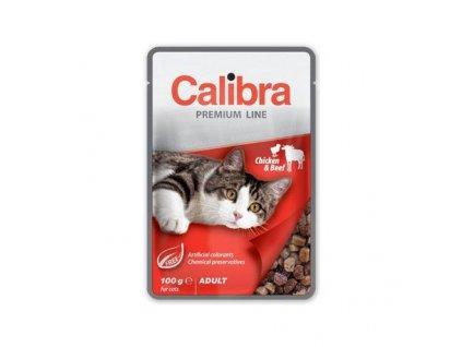 calibra cat kapsa premium adult chicken beef 100g