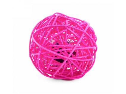 58784 1 jk animals hracka pro kocky ruzova ratanova koule s rolnickou 6 cm 1