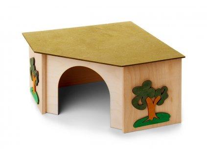 33028 jk animals dreveny rohovy domek kralik 27 5 27 5 15 cm 1