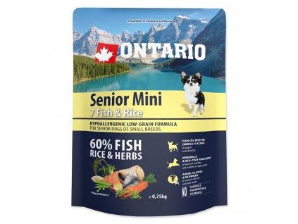 ONTARIO Senior Mini Fish & Rice (0,75kg)