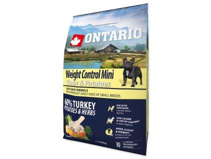 ONTARIO Dog Mini Weight Control Turkey & Potatoes (2,25kg)